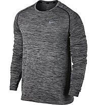Nike Dri-FIT Knit - Langarmshirt - Herren, Black