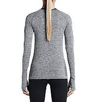 Nike Dri-FIT Knit Long Sleeve maglia running donna, Grey Melange