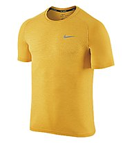 Nike Dri-FIT Knit Short Sleeves - Laufshirt, Yellow