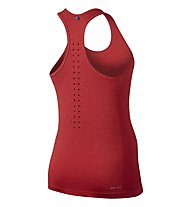 Nike Dri-FIT Knit Tank - canotta running donna, Red