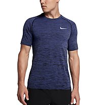 Nike Dri-FIT Knit - Kurzarmshirt Running - Herren, Dark Blue