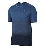 Nike Dri-FIT Knit - Laufshirt Kurzarm - Herren, Blue