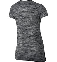 Nike Dri-FIT Knit Top Laufshirt Kurzarm Damen, Black/Grey