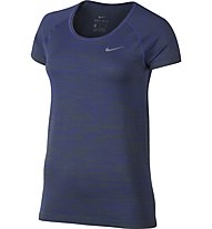 Nike Dri-FIT Knit Top Laufshirt Kurzarm Damen, Palm Green