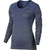 Nike Dri-FIT Knit W - langärmliges Runningshirt - Damen, Blue