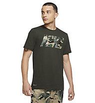 Nike Dri-FIT M's Camo Logo Training - T-shirt - uomo, Dark Green