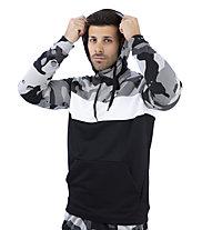 Nike Dri-FIT Men's Hooded Training - Kapuzenpullover - Herren, Black/Grey/White