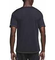 Nike Dri-FIT Miler Wild Run Printed Running - Laufshirt - Herren, Black