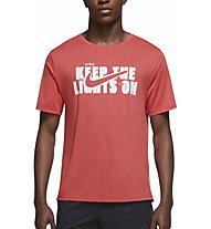 Nike Dri-FIT Miler Wild Run Printed Running - Laufshirt - Herren, Red