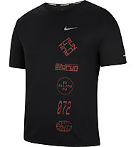 Nike Dri-FIT Miler Wild Run Graphic Running - Running T-Shirt - Herren, Black