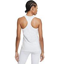 Nike Dri-FIT Swoosh - top fitness - donna, White