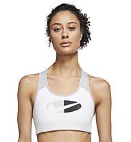 Nike Dri-FIT Swoosh W's Medium - Sport BH - Damen , White/Black
