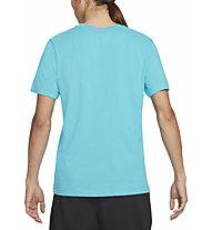 Nike Dri-FIT Trail Running - T-shirt trail running - uomo, Light Blue