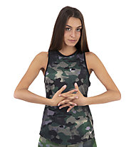 Nike Dri-FIT Camo Training - top fitness - donna, Dark Green