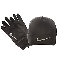 Nike Dri Fit Run Beanie Gloves Running-Set, Black