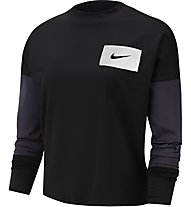 Nike Dry-Fit Running Crew - maglia running maniche lunghe - donna, Black