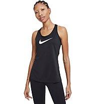 Nike Dry Balance Swoosh - top fitness - donna, Black