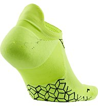 Nike Dry Elite Cushioned No-Show - calzini running, Volt/Black