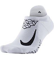 Nike Dry Elite Cushioned No-Show - calzini running, White/Black