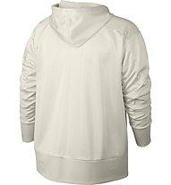 Nike Dry Hoodie Full Zip Shimmer - Kapuzenjacke - Damen, White