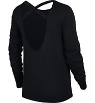 Nike Dry Long-Sleeve Training - maglia a maniche lunghe - donna, Black