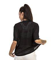 Nike Dry Mesh SS - T-shirt fitness - donna, Black