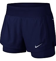 Nike Eclipse 2-in-1 - pantaloncini corti running - donna, Blue