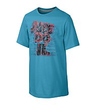 "Nike ""Just Do It"" Aerial Shirt Bambino, Blue Lagoon/Grey Heather"