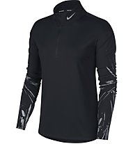 Nike Element - Laufshirt Langarm - Damen, Black