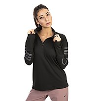 Nike Element - maglia a manica lunga running - donna, Black