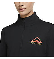 Nike Element Women's 1/2-Zip - Trailrunningshirt - Damen, Black