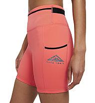 Nike Epic Luxe Trail Running - Trailrunninghose kurz - Damen , Orange