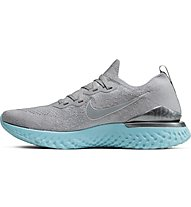 Nike Epic React Flyknit 2 - Laufschuhe Neutral - Damen, Grey/Light Blue