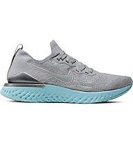 Nike Epic React Flyknit 2 - scarpe running neutre - donna, Grey/Light Blue
