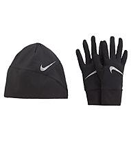 Nike Essential Running Set - Laufhandschuhe und Laufmütze, Black/Grey