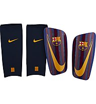 Nike FC Barcelona Mercurial Lite - parastinchi calcio, Blue/Dark Red