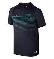 Nike FC Barcelona Squad Kurzarm-Fußballtrikot Kinder, Black