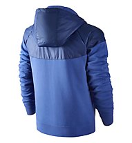 Nike Fleece Windrunner Hybrid Hoodie, Game Royal/HTR/Bright Crimson