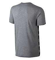 Nike Flow Motion Futura T-Shirt, Carbon Heather Grey