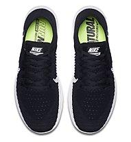 Nike Free Run Flyknit - Laufschuhe - Herren, Black/White