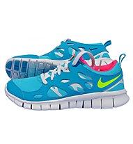 Nike Free Run 2 (GS) Scarpa tempo libero bambino, Blue/Yellow/Pink