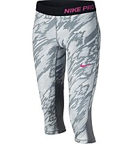 Nike Girls' Pro Cool Training Fitness Capri Mädchen, Grey