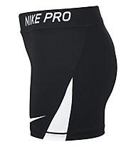 Nike Pro - pantaloncini fitness - ragazza, Black/White