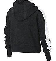 Nike Sportswear Cropped Fleece - Kapuzenpullover - Mädchen, Black