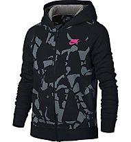 Nike Girls' Sportswear Hoodie Giacca sportiva fitness bambina, Black