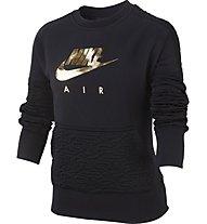Nike Air Fleece - felpa - bambina, Black