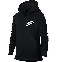 Nike Girls Sportswear Tech Fleece Hoodie - Kapuzenpullover - Damen, Black