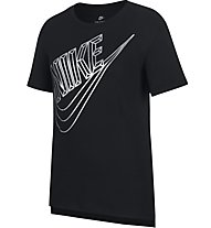 Nike Sportswear Faceted Futura - T-shirt fitness - bambina, Black