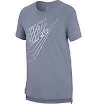 Nike Sportswear Faceted Futura - T-shirt fitness - bambina, Grey