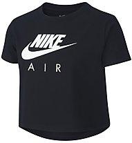 Nike Cropped Air - T-shirt fitness - bambina, Black